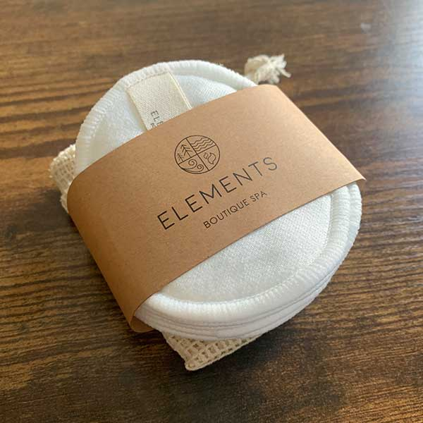 Elements Essentials Reuseable-Bamboo Cotton Pads package